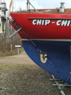 Blisters on the rudder of our Great Dane 28
