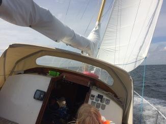 Great sailing in narrow straits
