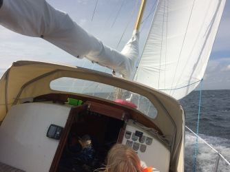 Great sailing in narrow straits