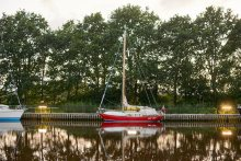 Chip-Chip moored in Giselau