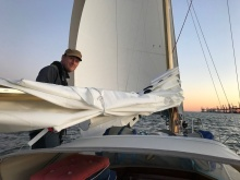 Testing the new sails