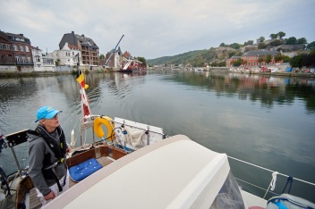 Maria steering us to the Sambre