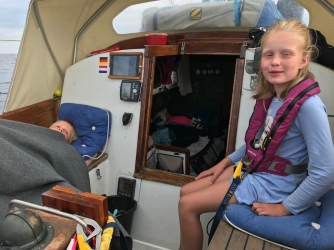 Sailing to Barcelona - Runa didn't throw up!