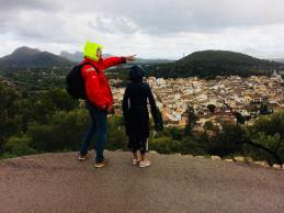 Torben and Rikke from Pilgrim enjoying the beautiful view of the town