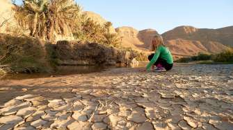 The wadi was almost dry