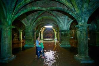 In the cistern of the Portuguese fort