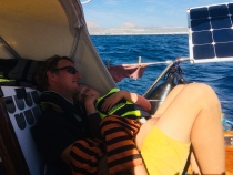 Taking a nap on the way down the coast