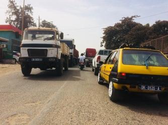 Normal traffic in Dakar
