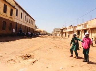The streets of Banjul