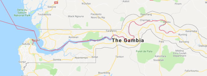 MapGambia