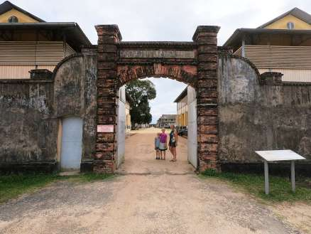 "The entrance to the ""Camp de la transportation"""