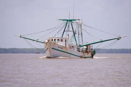 Chinese fishing boat on the Suriname River