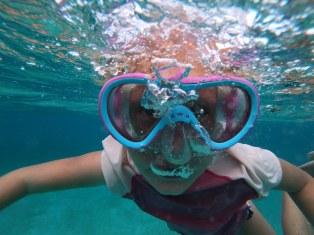 No snorkel needed