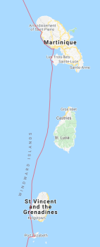 Our journey north from Bequia