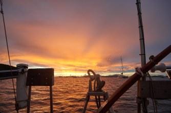 Sunset over St Thomas